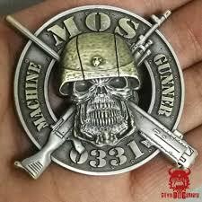 Mos 0331 Machine Gunner Marine Corps Challenge Coin
