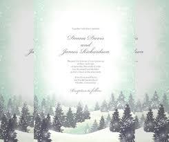 Snow Templates 14 Winter Wedding Invitation Templates Sample Example Format