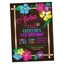 Amazon Com Hawaii Luau Birthday Invitations Tropical Party