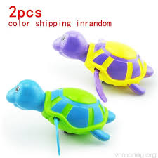 2 Pack Baby Bath Toys Clockwork Turtle For Toddlers Boys GirlsWind ...