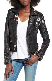 perky blanknyc embroidered faux lear moto jacket nordstrom in faux leather moto jacket