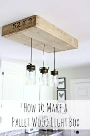 custom kitchen lighting. Custom Kitchen Lighting. Pallet Wood Light Box: How To Make A Box From Lighting E