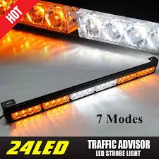 Traffic Advisor Strobe Light Bar Details About 24led Emergency Warning Traffic Advisor Flash Strobe Light Bar Pf