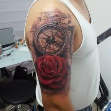 тату компас значение красивые фото эскизы и примеры для мужчин и
