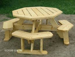 round wood picnic table octagon inspirational best kids tables images on of wooden with umbrella round wood picnic table