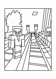 Minecraft Coloring Pages For Kids Hard Printable Coloring Page For