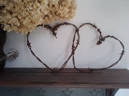 entwined rusty barbed wire hearts home wedding decor 2427521