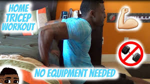 tricep workout no equipment