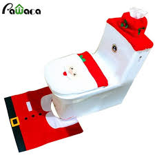 decorations santa toilet seat cover and bathroom rugs sets excellent material designed for your place