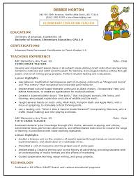Early Childhood Resume Examples Art Teacher Resume Examples