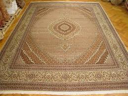 new ivory 11 x 17 tabriz persian hand knotted original rug wool