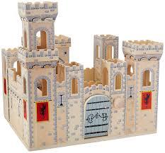 Amazon Com Melissa Doug Deluxe Folding Medieval Wooden Castle