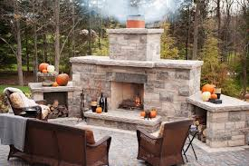 outdoor wood burning fireplace firepit