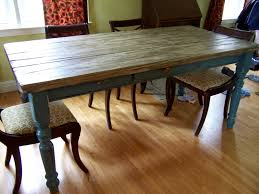 Designed Rustic Wooden Farmhouse Table With Antique Dining Chairs