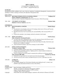 mba international business resume equations solver business resume sle format mba from