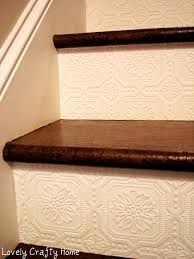 Wallpaper On Stair Risers Simple Way To Add Texture And Character