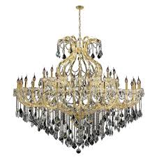 maria theresa collection 49 light gold finish crystal chandelier 72 d x 60 h two 2