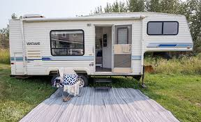 Diy travel trailer Tear Drop Our Diy Camper Gorgeous Renovated Rv Tour With Diy Paint Job Vinyl Plank Starling Travel Our Diy Camper Renovated Rv Tour The Diy Mommy
