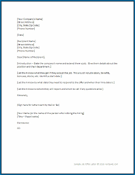 Responding To Job Offer Job Offer Letter Template Word 718