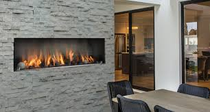 OFP5548S1N Outdoor Linear Gas Fireplace, MQG5C Glass Media, RBCB1  Cannonballs ...