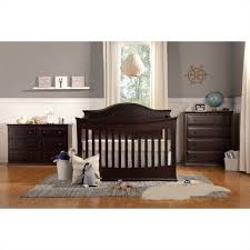davinci meadow 4 in 1 convertible crib with toddler rail in dark java