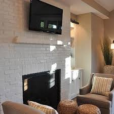 painted white brick fireplaceWhite Brick Fireplace Design Ideas