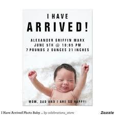 New Baby Boy Birth Announcement Messages Ba Boy Announcement Card