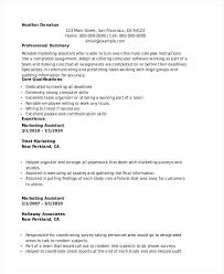Marketing Assistant Resume Amazing Online Marketing Assistant Sample Resume Colbroco