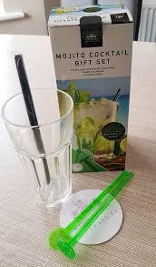 mojito tail maker kit gift set gl mixer straw ice crusher stirrer coaster 5050565364616 ebay