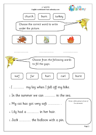 Here, you will find free phonics worksheets to assist in learning phonics rules for reading. Ur Words Letters And Sounds By Urbrainy Com