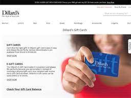 dillard s gift card balance check