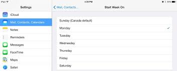 How To Change The First Day Of The Week On Your Calendar Appducate