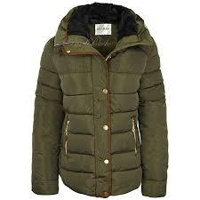Fashion Thirsty Womens Ladies Quilted <b>Winter</b> Coat Puffer <b>Fur</b> ...