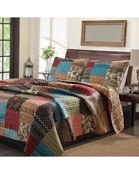 king size patchwork quilts. Simple King New Bohemian Cotton Patchwork Quilt Set Sham Separates  Multi Size King And Quilts Better Homes And Gardens