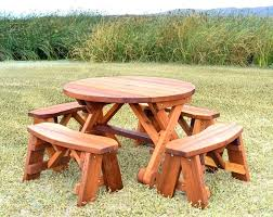 round wood picnic table bench hexagon picnic table plans round wooden for wood t wood picnic