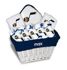 personalized utah jazz large gift basket