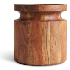 turn low side table  acacia wood side table  blu dot