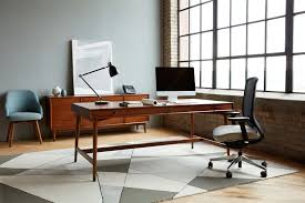 west elm office. Mid-Century Private Desk With Drawers By West Elm Workspace Office