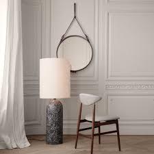 GUBI Adnet Wall <b>Mirror</b> - Circular - <b>70cm</b> diameter - Black Leather ...