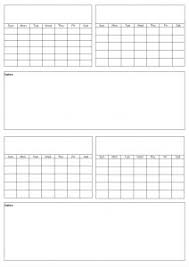 Calendar To Fill In Free Printable Calendars Blank Pdf Templates To Print A