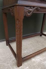 vintage oak carved side table with drawer antique side tables