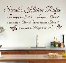 image is loading personalised kitchen rules quote wall art sticker decal  on wall art kitchen rules with personalised kitchen rules quote wall art sticker decal graphic