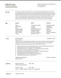 cv for assistant buyer student template senior retail buyer resume