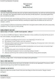 Warehouse Forklift Operator Warehouse Forklift Operator Resume Interesting Forklift Resume