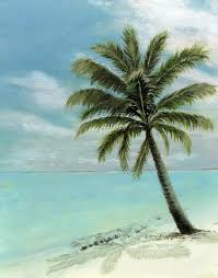 palm tree study painting by cecilia brendel