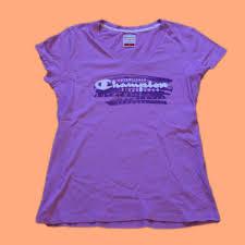 Light Purple Champion Shirt Mens Light Purple Champion T Shirt Embossed Logo