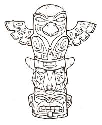 90a4b7a3e4a4847d820e5211e264ced1 animal totem poles free printable totem pole coloring pages for on par q template free