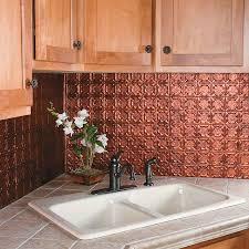 Copper Backsplash For Kitchen Kitchen Copper Backsplash Design Tokyostyleus