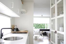 Glass Front Kitchen Cabinets Kitchen Contemporary With Dining Hutch My Houzz