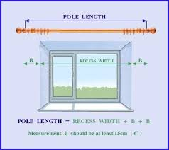 Measurement Window Drawing Showing Hoe To Measure For Curtain Poles In 2019